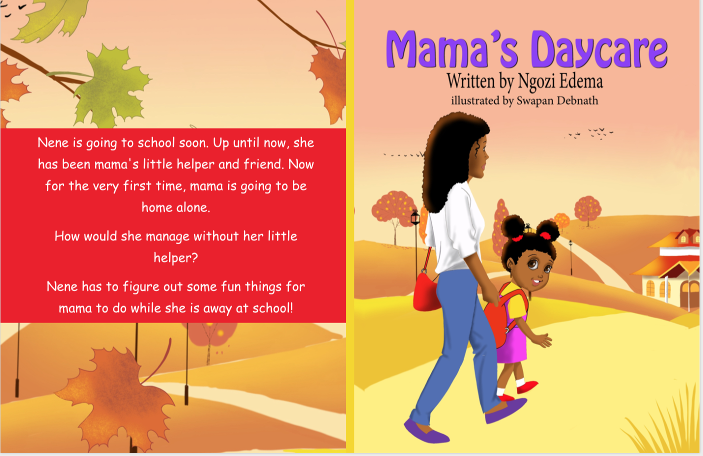 Mama's Daycare, children picture book, available on amazon.