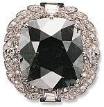 A famous loose black diamond now mouned on a necklace, the Black Orlov is said to be cursed.